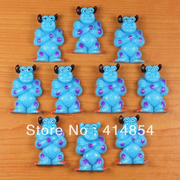 Teddy Bear resin cabochon x 10 flat back in blue