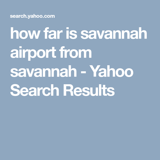 How To Get From Savannah Airport To Downtown Savannah
