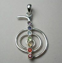 Sterling Silver Pendant with Reiki Symbol
