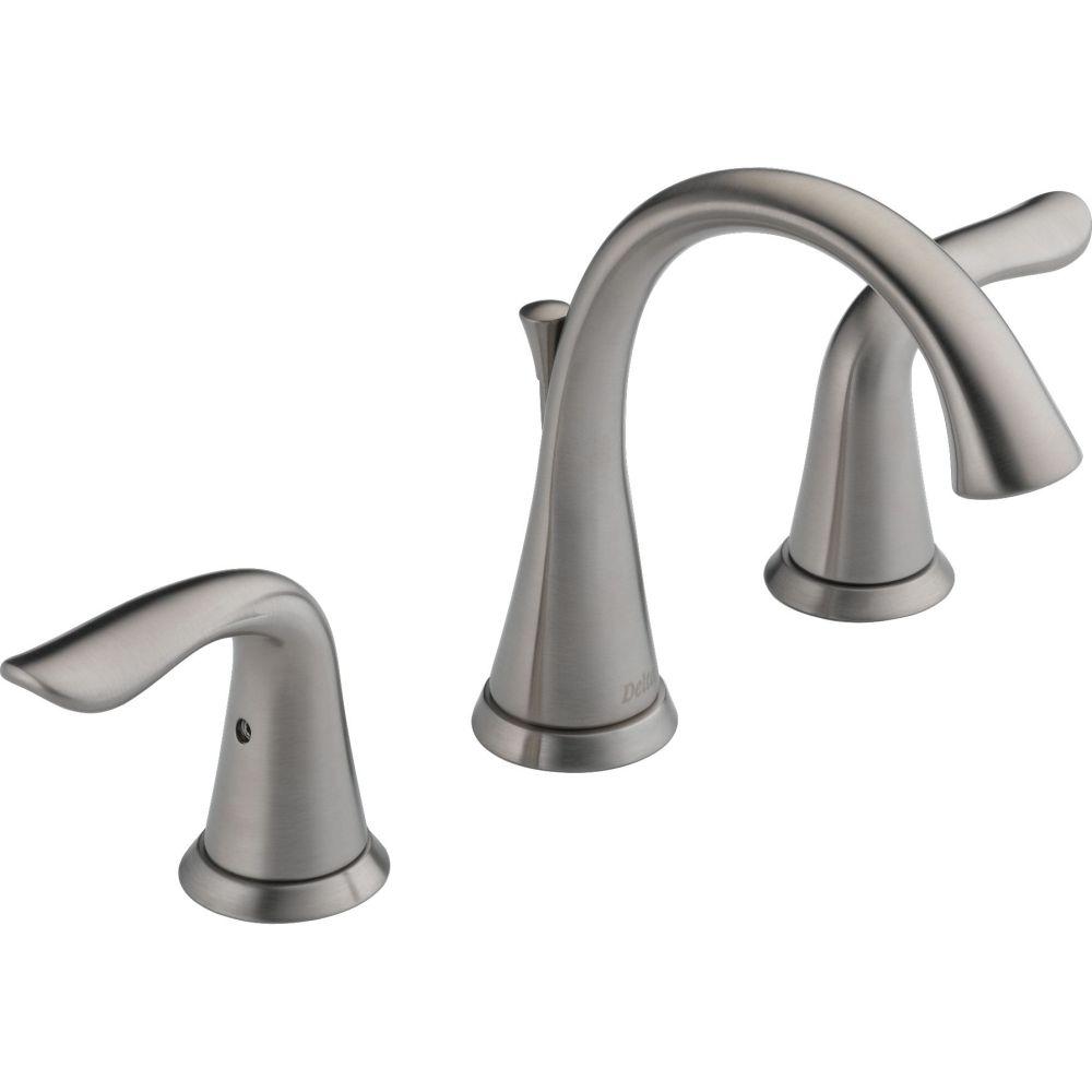 Delta Faucet 3538-SSMPU-DST Lahara Two Handle Widespread Bathroom ...