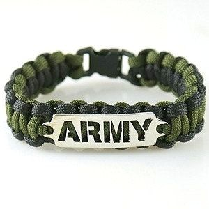 Army Paracord Bracelet On Loom Bracelets Military Care Packages