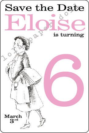 eloise at the plaza save the date party email invitation eloise at