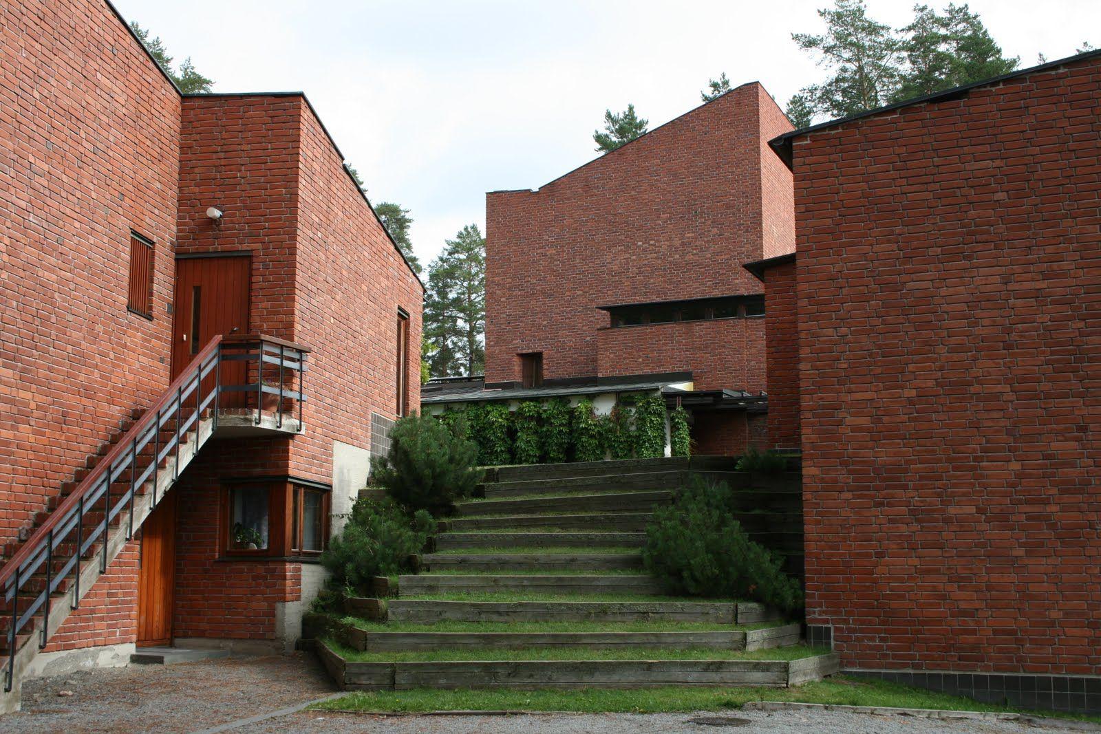 Alvar aalto saynatsalo town hall main access staircase to for The aalto house