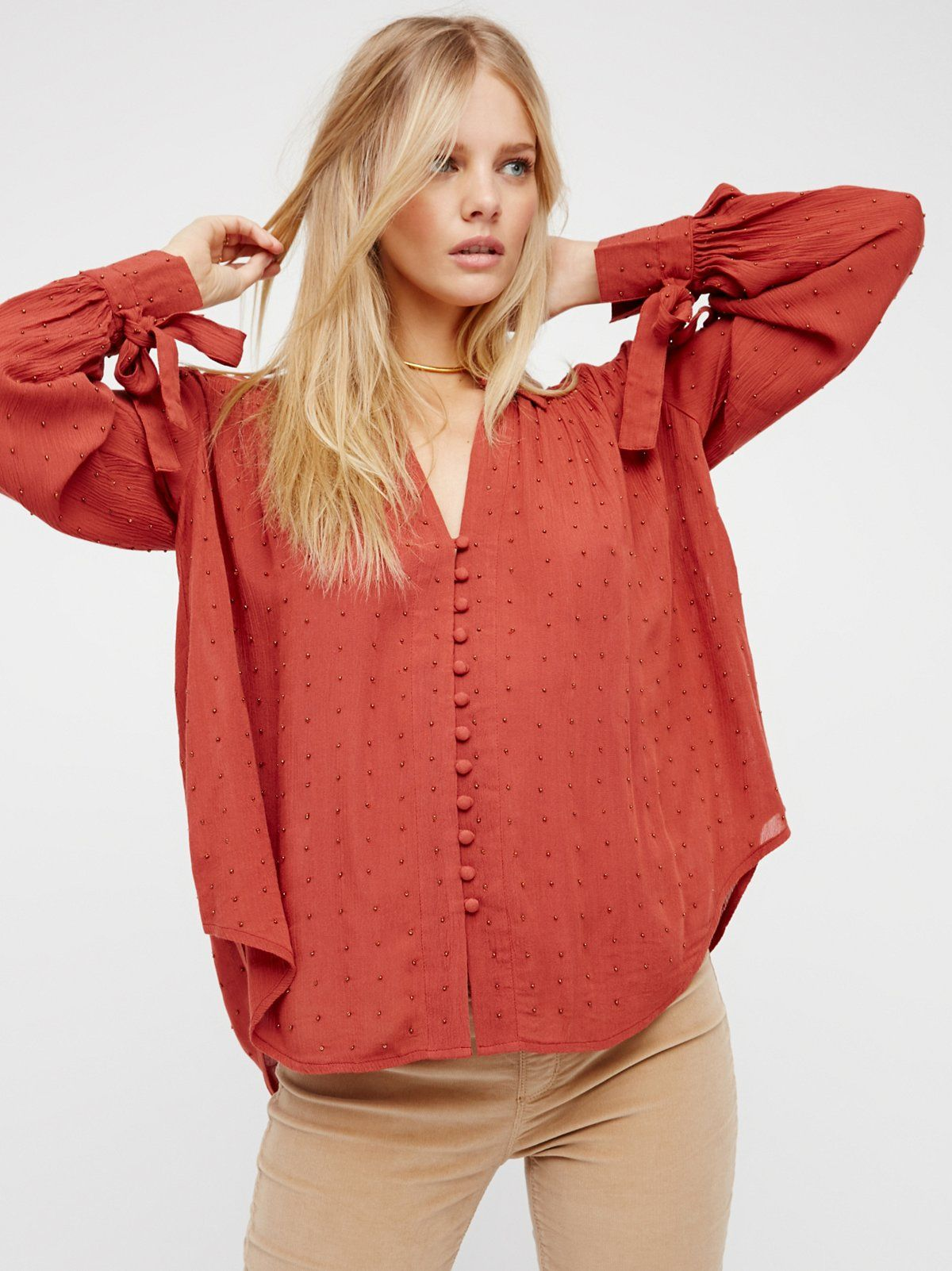 Embellished Button Down Shirt