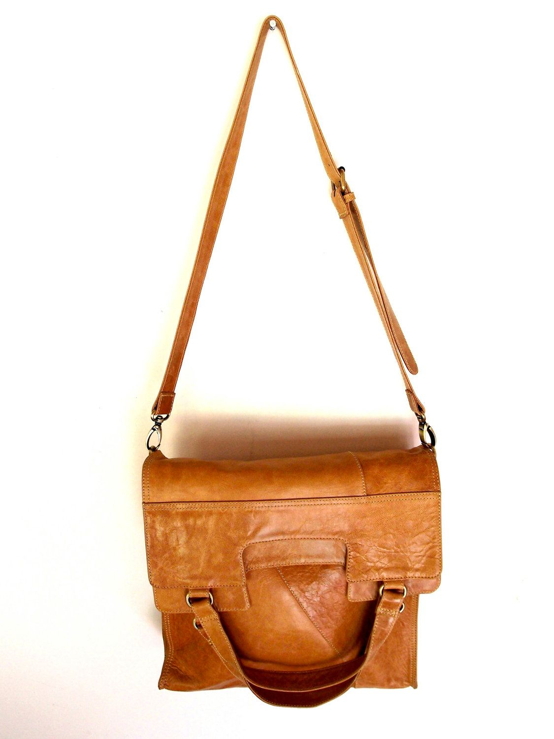 570d3270c On my Christmas list! (MI-VIDA. Fold-over shoulder leather bag / cross body  bag. Available in different leather colors.. $210.00, via Etsy.)