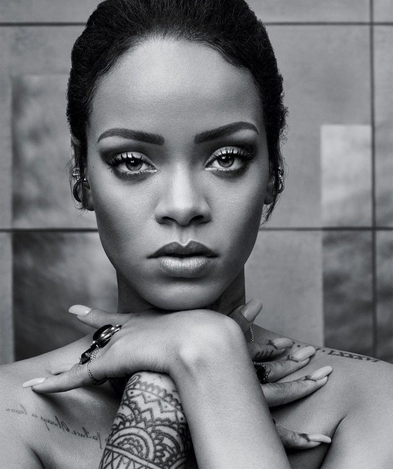 Rihanna close up on t magazine style fall 2015 photoshoot
