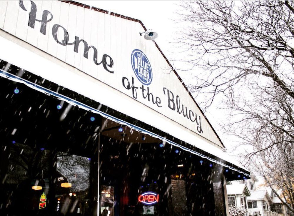 Blue Door Pub Minneapolis Mn Home Of The Blucy In 2020 Totchos Blue Door Late Night Happy Hour