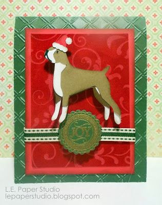 Dog Themed Christmas Card Uses Cricut Pet Shop Lite Christmas