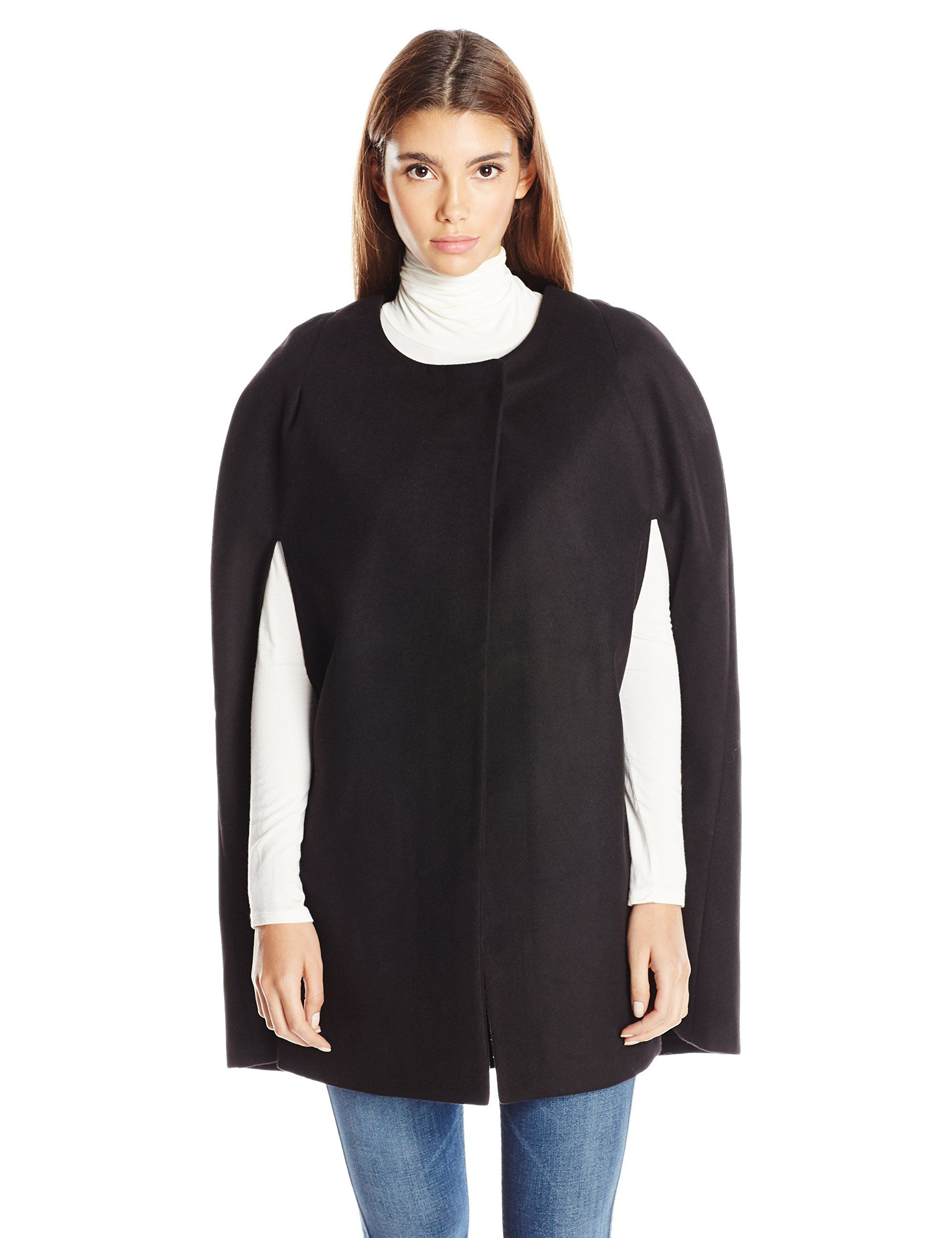 BB Dakota Women's Petite Cambridge Melton Cape Coat, X, Black, X ...