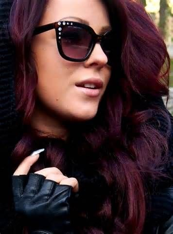 Dark Hair With Burgundy Highlights Pictures Dark Hair With