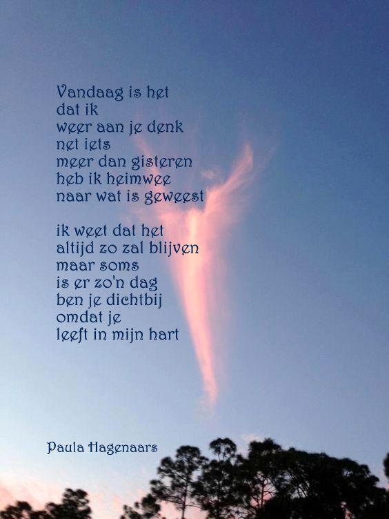 gedichten paula hagenaars | mooie gedachten - i miss my dad, poetry