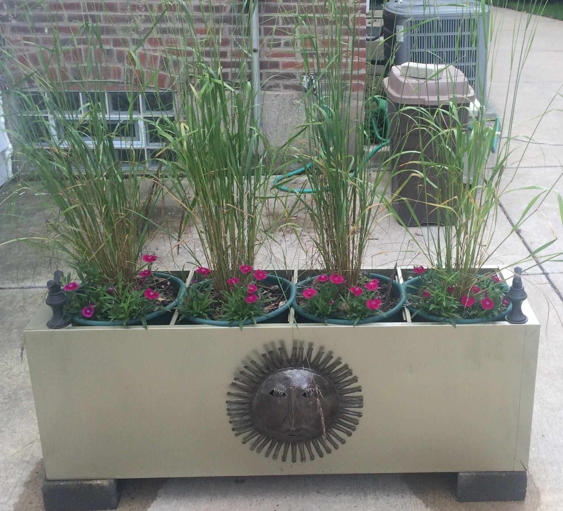 Filing Cabinet Turned Planter Screen Nan'