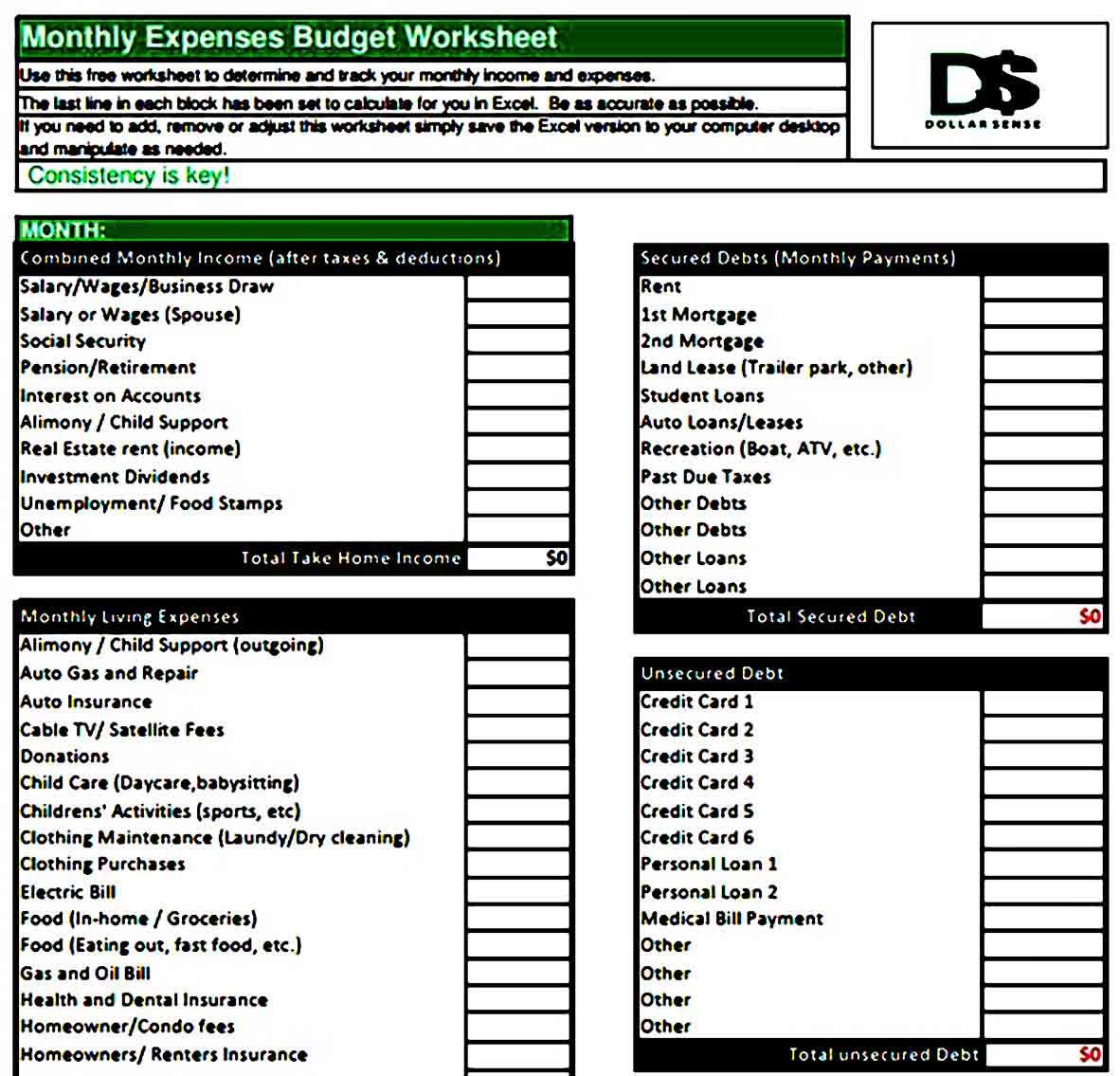 Printable Budget Worksheets Printable Budgeting Worksheets Printable Budget Worksheet Budgeting
