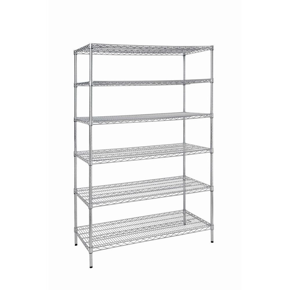 6-Shelf Steel Commercial Shelving Unit-HD32448RCPS - The Home Depot ...