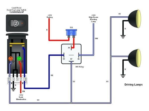 5 pin relay wiring diagram driving lights  trailer light