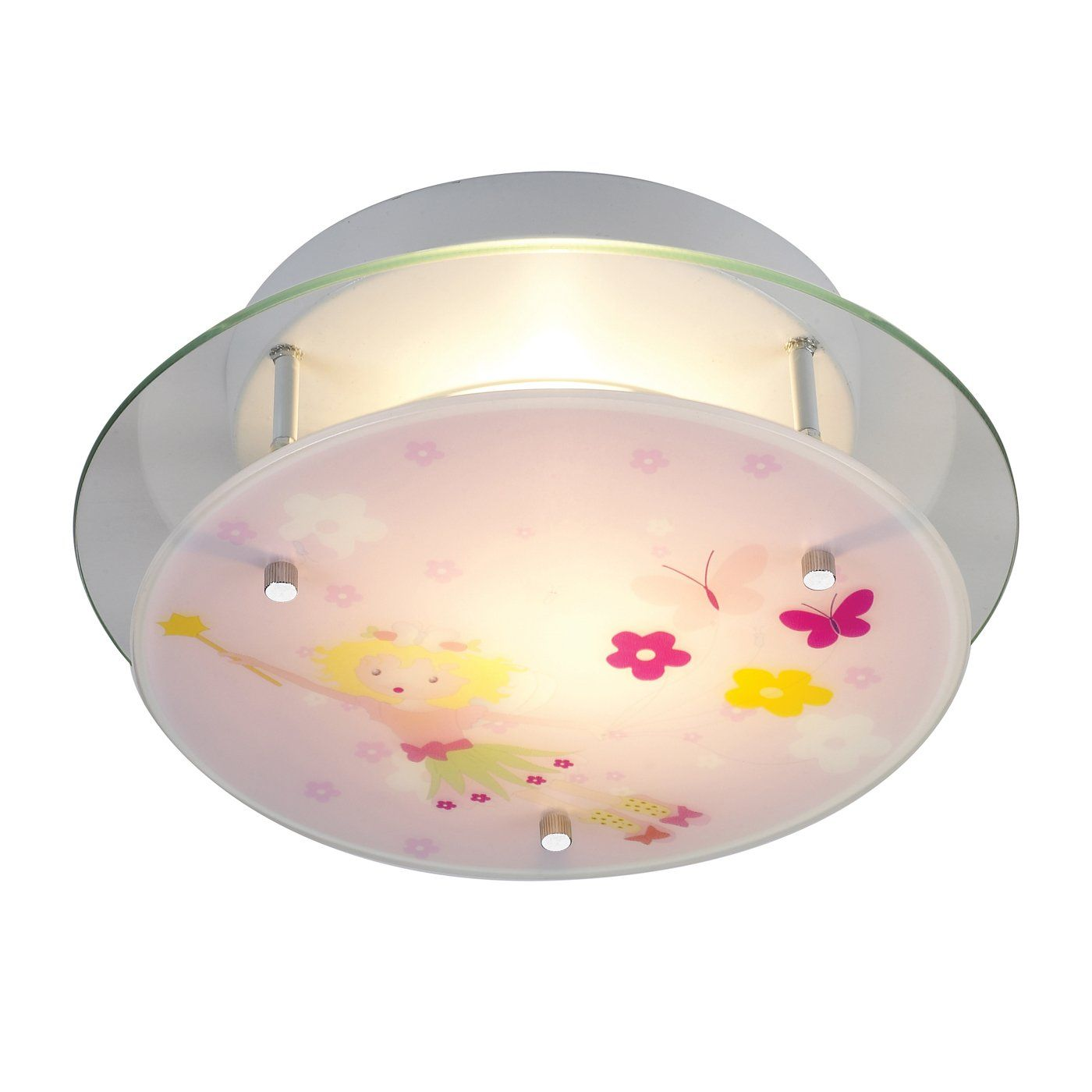 kids ceiling lighting. ELK Lighting 21008/2 2 Light Novelty SemiFlush Kids Ceiling Light, Little Girl - Universe N