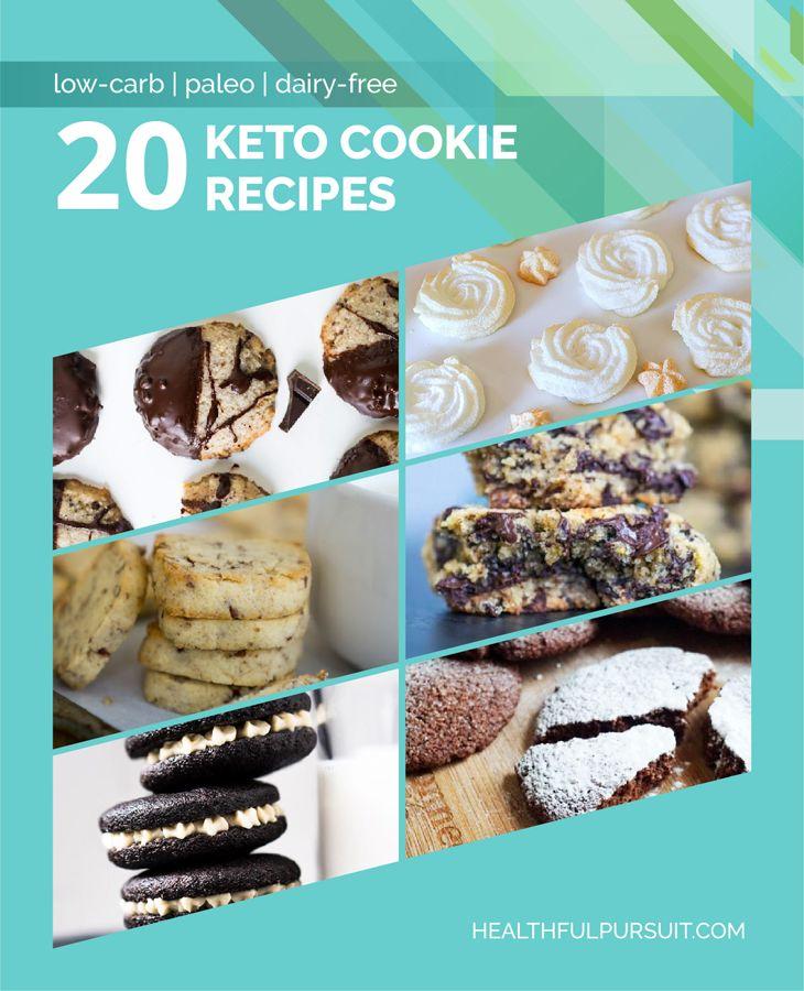 20 Keto Cookie Recipes #ketocookierecipes