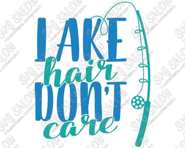 Lake Hair Dont Care Anchor Custom DIY Iron On Vinyl Shirt Decal - Custom vinyl decals machine for shirts