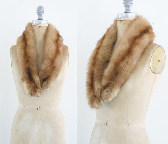 Vintage Real Fox Fur Collar Fur Stole Fox Collar Fox by JupeDuJour
