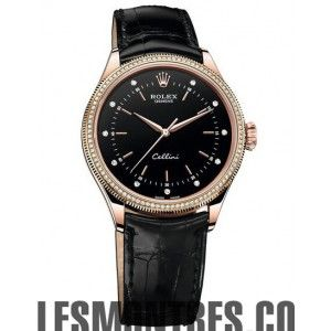 Rolex Cellini Time Rose Gold & diamants 50605RBR