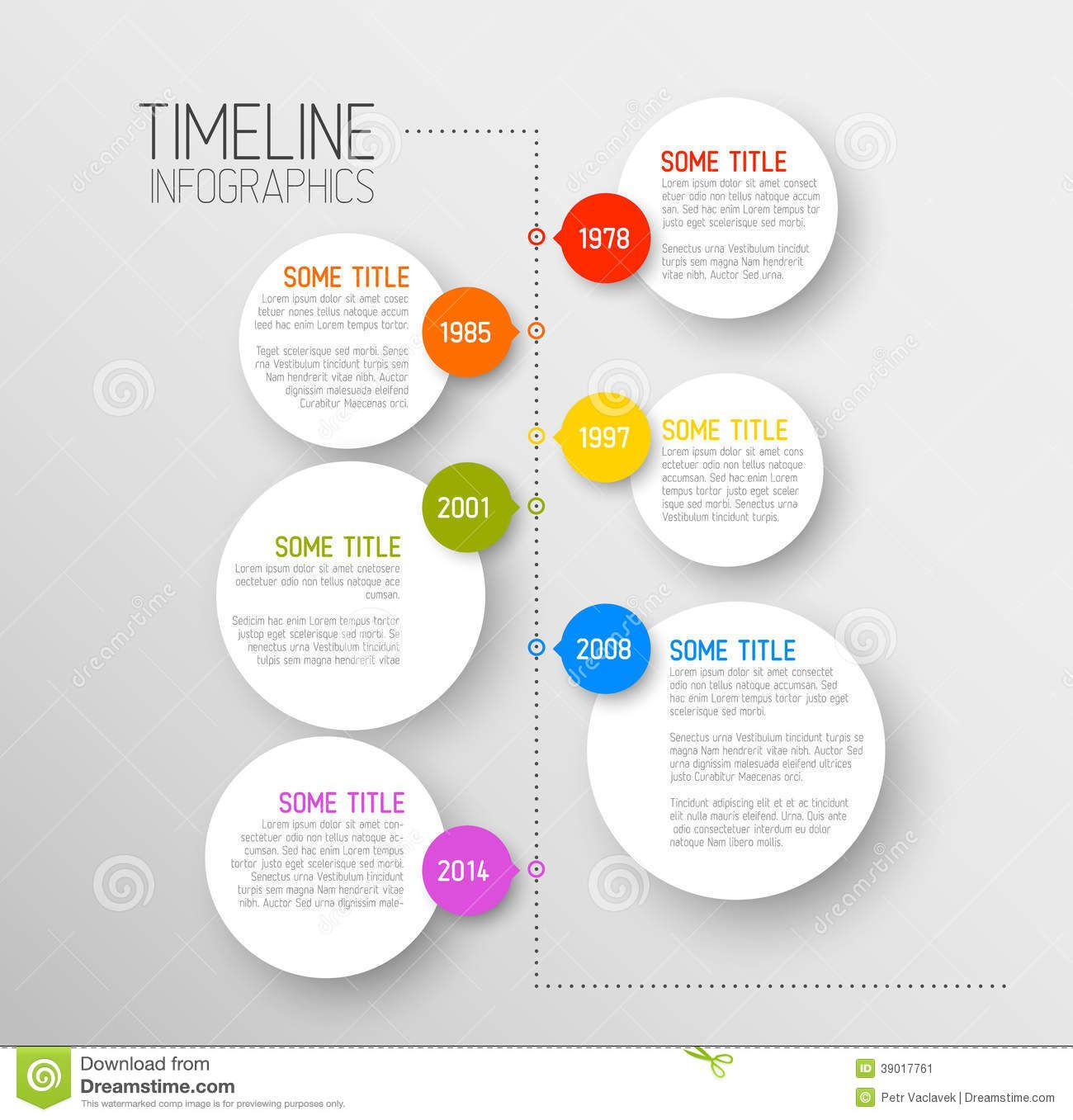 Timeline Template With Icons By Orson On Creativemarket  Design