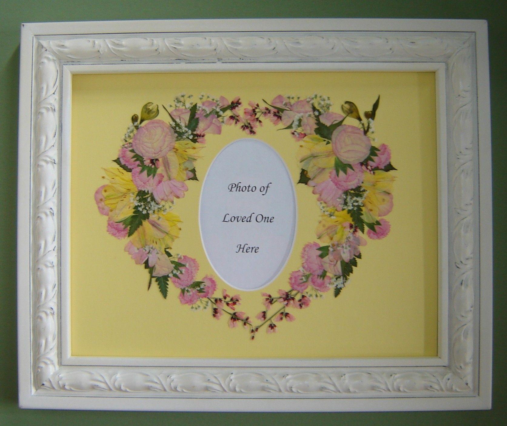 Memorial Flowers from a little girls service, preserved by Pressed Garden ~ Annie Fentz Smith ~ www.pressedgarden.blogspot.com