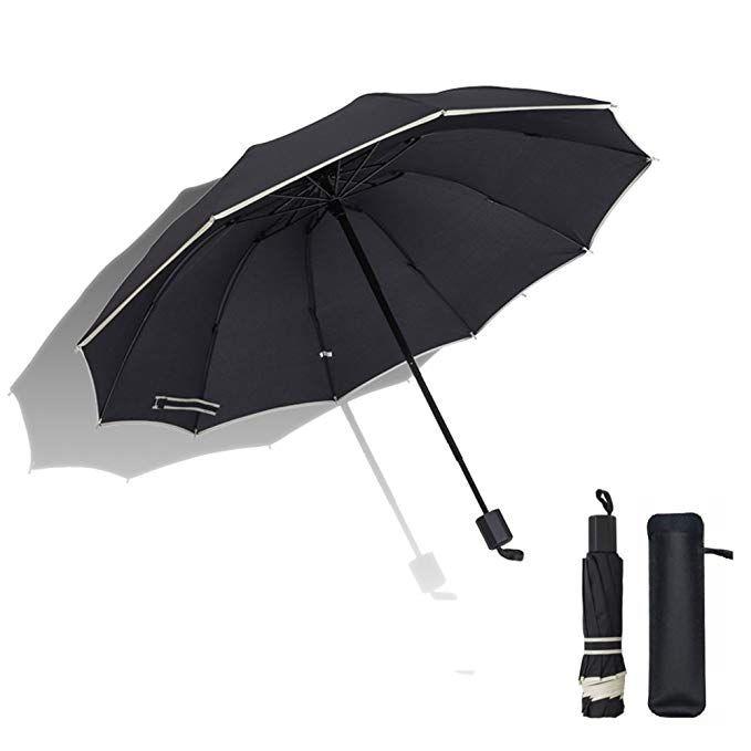 e52bd4459adf Wonsain Compact Travel Windproof Waterproof Golf Outdoor Umbrella ...