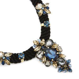 Matthew Williamson Women's Glitter Stone Necklace - Navy: Image 11