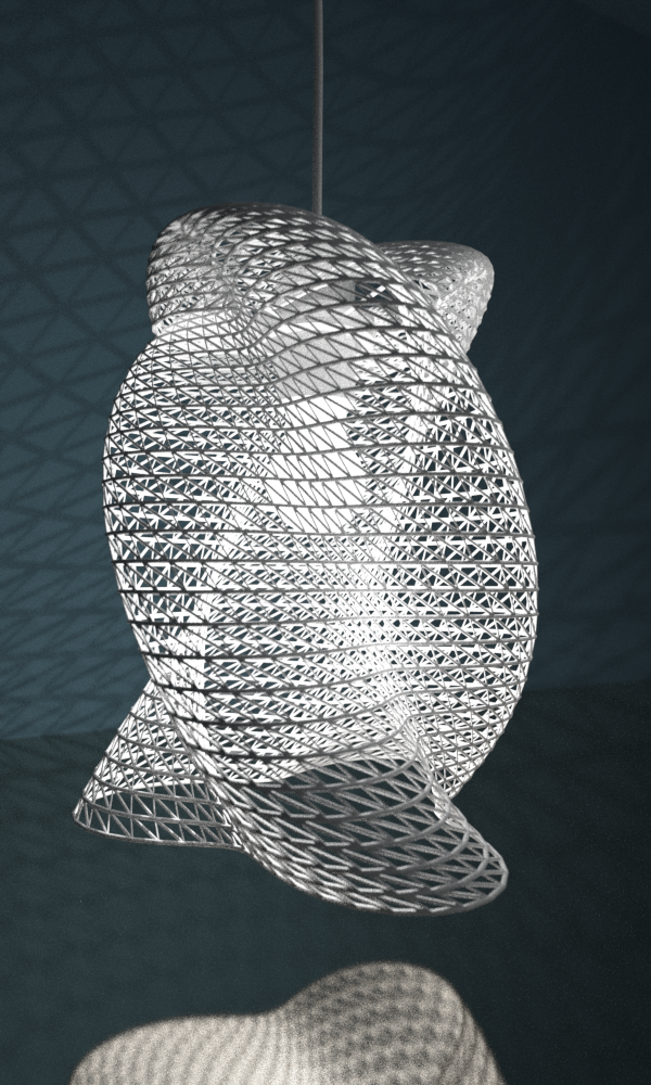 3d Printed Lampshade By Studioluminaire Com The Form Was Extracted Of A Script Main Components Are Sine And Cosine Lamp Design Cool Lighting 3d Printing
