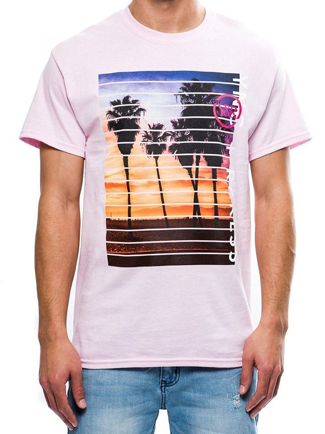 Young And Reckless Coastline Tee Pink Mens Tees Graphic Tee Pink Cw12od4egco Young Mens Fashion Mens Graphic Tee Online Mens Clothing