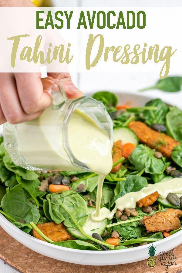 Einfaches Avocado Tahini Dressing Einfaches Avocado Tahini Dressing,