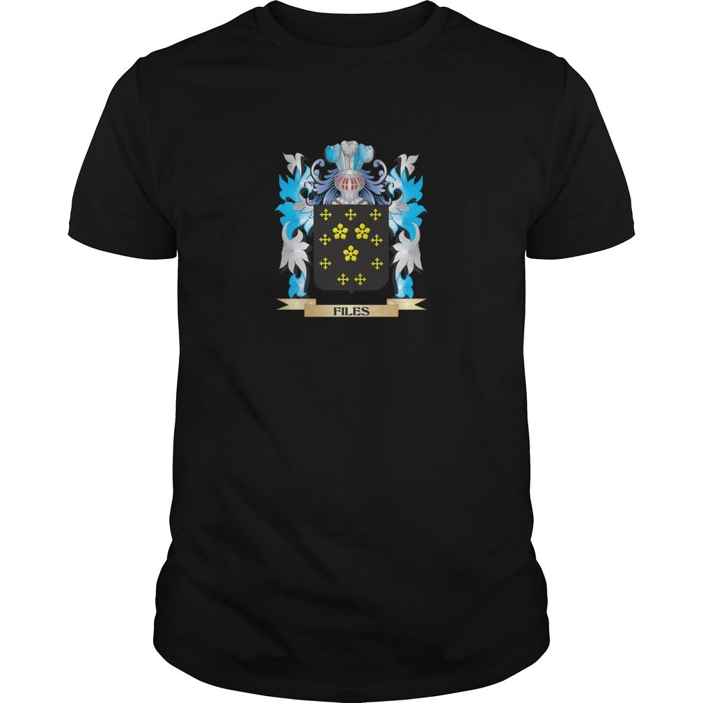Files Coat of Arms - Family Crest - Perfect for Files family reunions or those proud of their family Files heritage.  Thank you for visiting my page. Please share with others who would enjoy this shirt. (Related terms: Files,Files coat of arms,Coat or Arms,Family Crest,Tartan,Files surname,Her...)