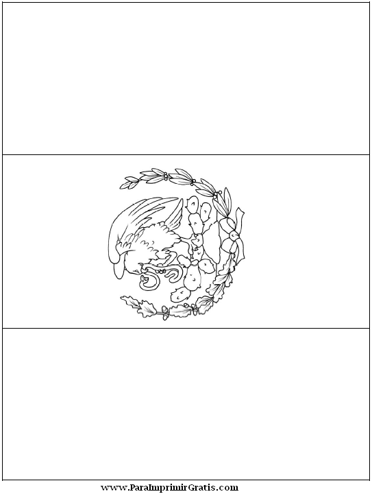 Bandera de mexico tama o perfecto para imprimir mexico - Tamano de baneras ...