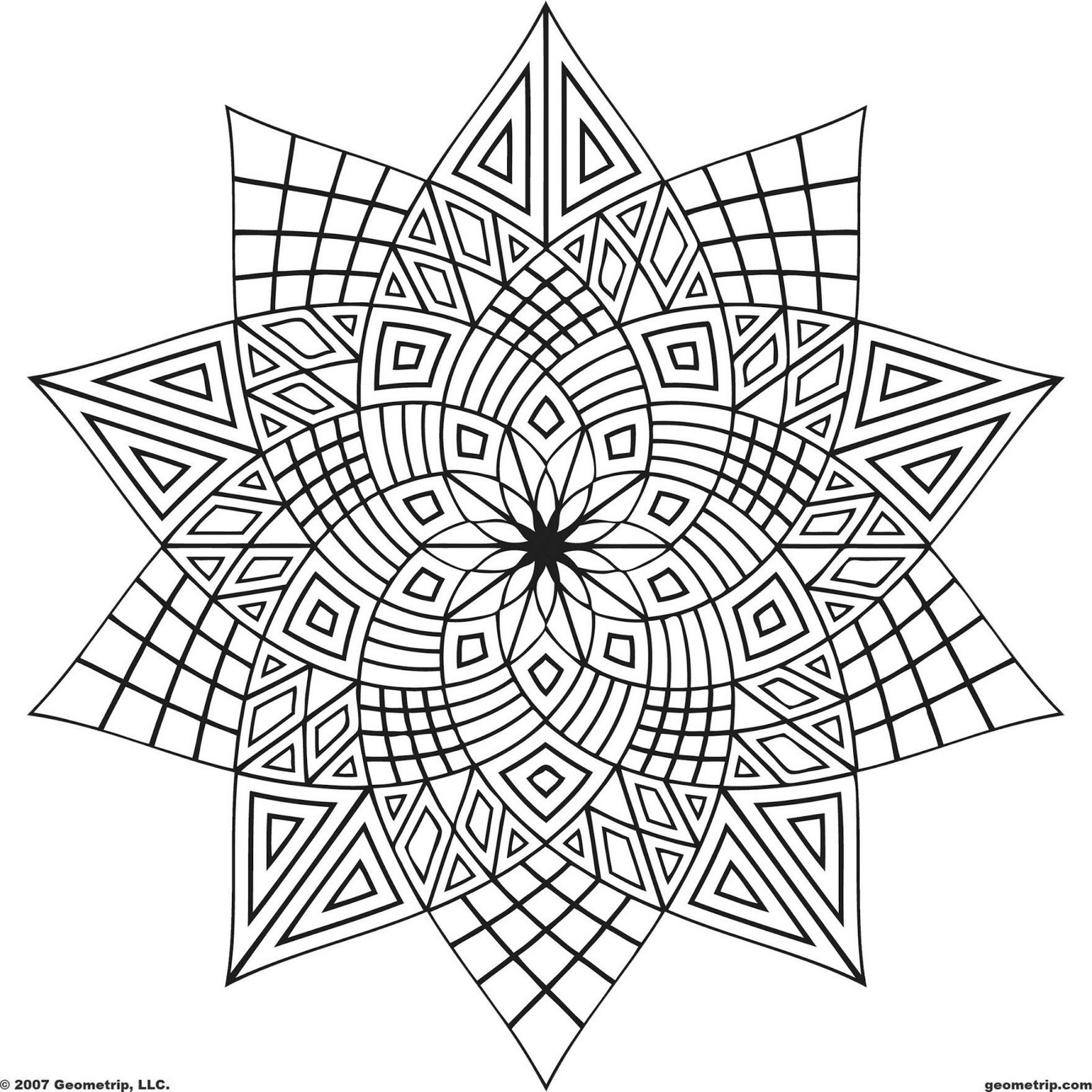 Printable Teen Coloring Pages | mandalas | Geometric coloring pages ...