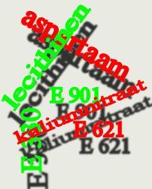 Lijst met E nummers