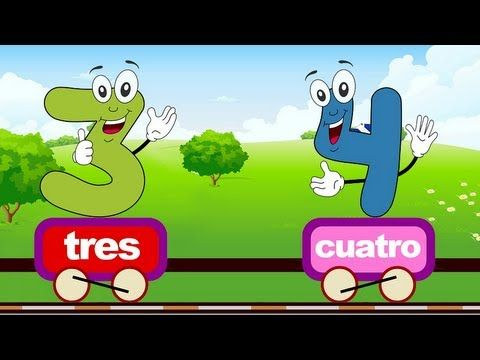 ▶ Aprende los números del 1 al 10 en español con este video. Tren de los números. - YouTube