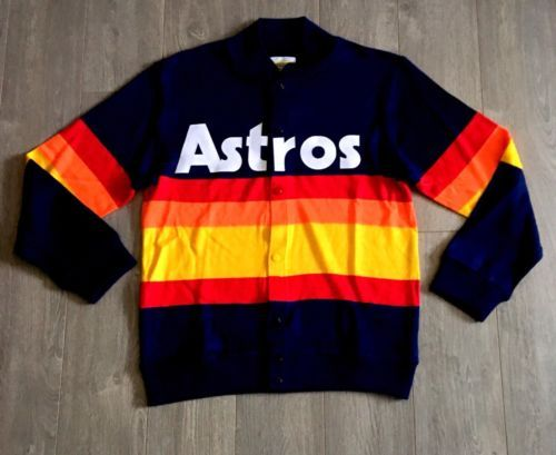 1986 Mitchell And Ness Houston Astros Rainbow Sweater Sz 44 Large L