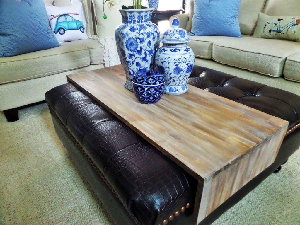 Ottoman Trays Home Decor Fair Diy Wrap Around Ottoman Tray  Home Decor  Pinterest  Ottomans Inspiration
