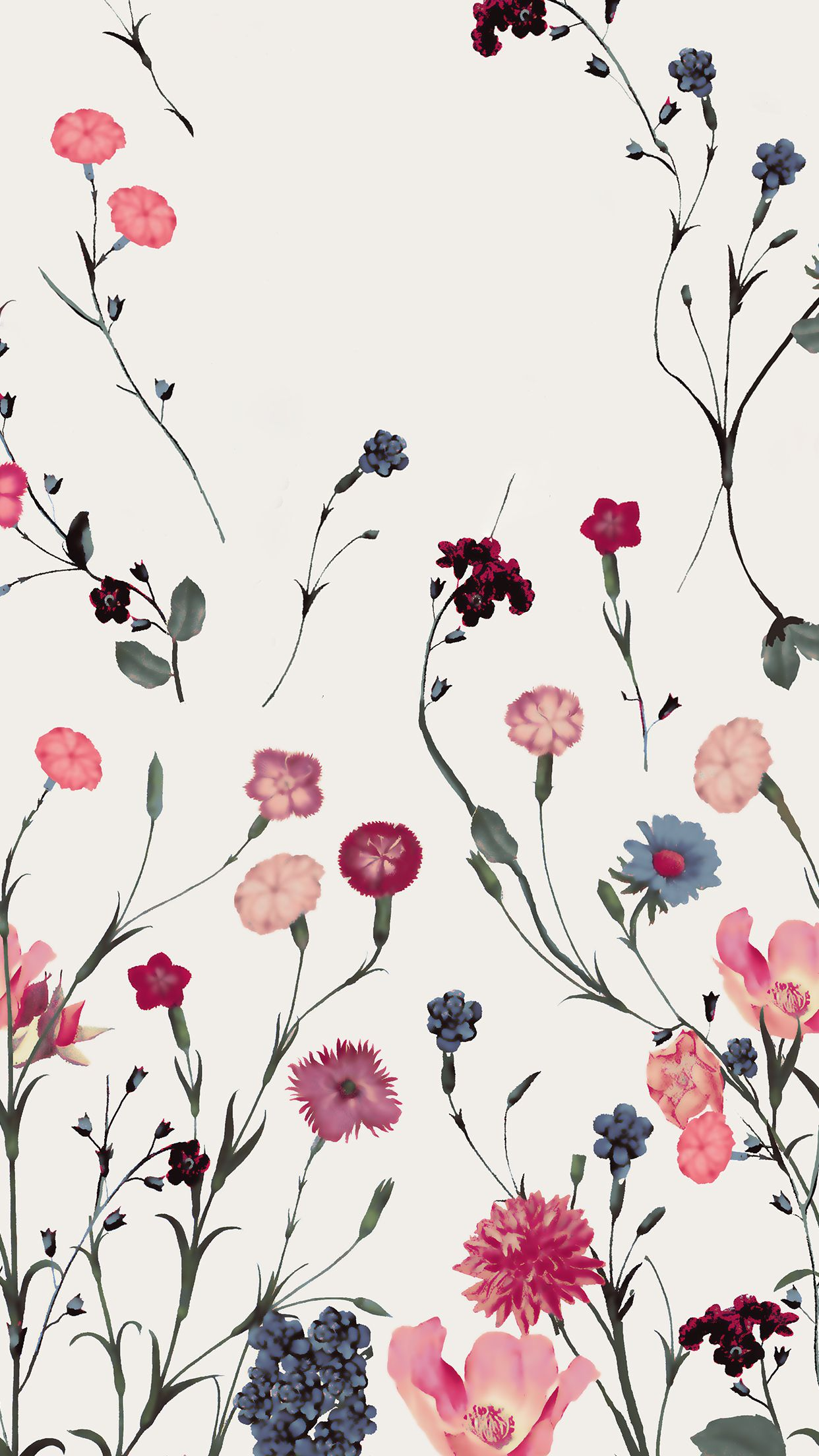 Februaryiphonebackgroundv2g 12422208 floral wallpaper fostergingerpinterestmore pins like this one at fosterginger pinterest no pin limits voltagebd Images