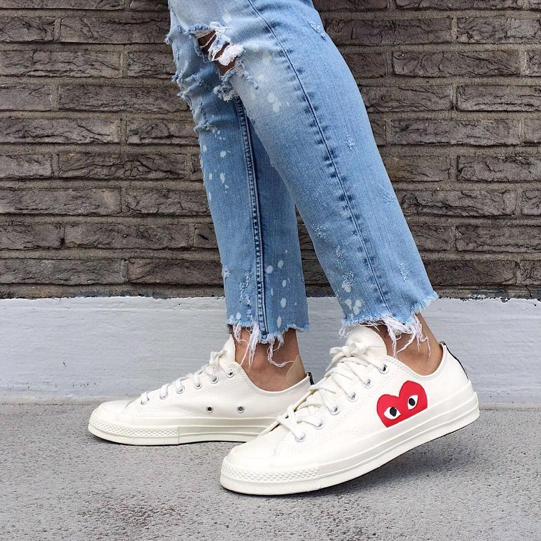 Play Cdg X Converse Chuck Taylor All Star Hidden Heart Outfits With Converse Cdg Converse Converse Style Women