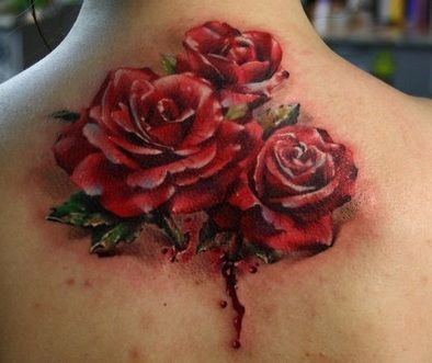 Three Red Roses On Neck Tattoos Bouquet Tattoo Rose Tattoos