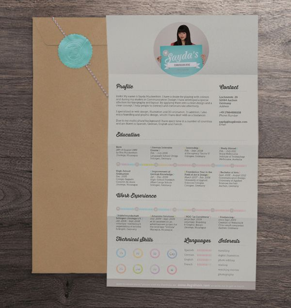 20 Cool Resume  CV Designs blog Pinterest Resume cv, Design