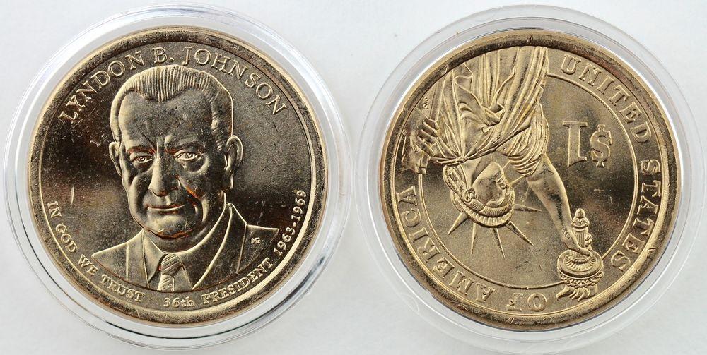 2015-P/&D $1 Dwight D Eisenhower Presidential Dollar 2-Coin Set Uncirculated