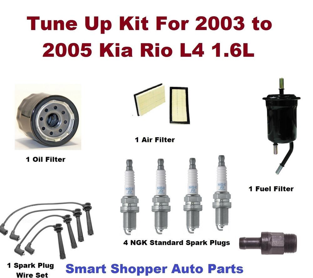 Tune Up Kit For 03 05 Kia Rio Spark Plug Wire Set Air 2004 Fuel Filter Location Oil Fue
