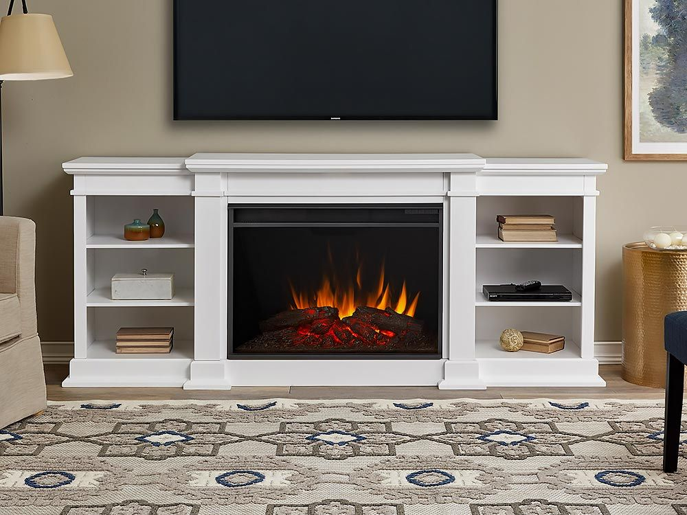 Real Flame Eliot Grand White Infrared Electric Fireplace 1290e W Real Flame Electric Fireplace Entertainment Center Fireplace Entertainment Fireplace Entertainment Center