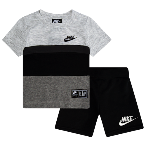 Nike Air Short Set Black Boy Activewear Boys Summer Outfits Cute Outfits For Kids