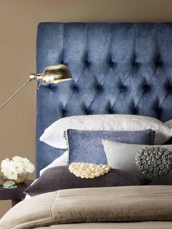 Best Sleep Easy With A Fabric Bedhead Blue Bedding 400 x 300