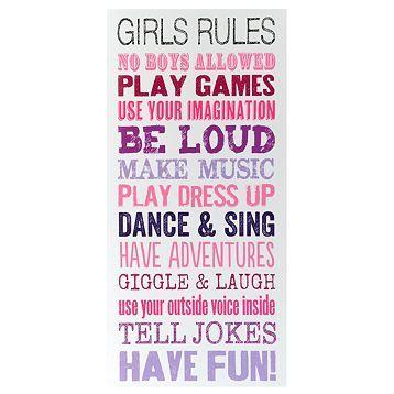 Girls Rules Wall Art Kids Bedroom Decor Girls Rules Kirklands