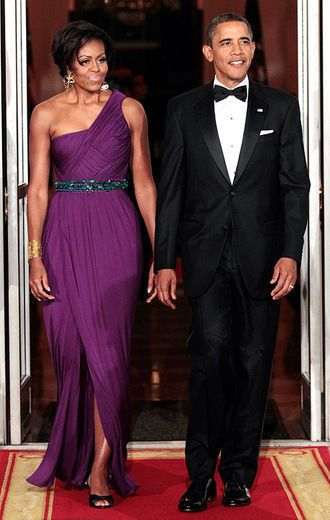 FLOTUS...Michelle Obama... In Purple