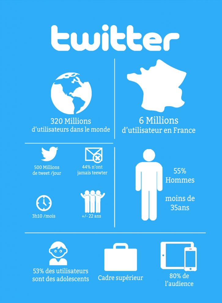 Infographie Sur L Utilisation Et Les Utilisateurs De Twitter Realise Pour Mon Rapport De Stage 2016 Infographie Twitte Infographie Statistique Demographie